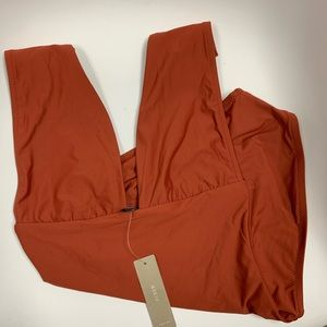 J. Crew Swim - J. CREW Copper Plunge V-neck one-piece swimsuit 4